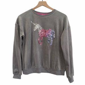 Other - NWT Unicorn gray soft sweatshirt 14/16